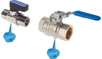Ball valves with forced exhaust
