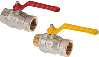 Brass throughway ball valves (FT, FT/MT & MT)