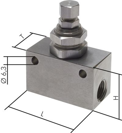 One-way control valves & choke valves made of stainless steel, Eco-Line