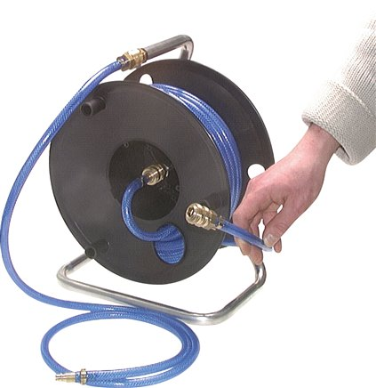 Hose reel for compressed air complete with quick coupling NW 7,2