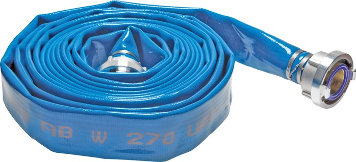 Drinking water flat hoses with Storz coupling
