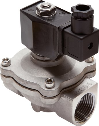 2/2 way solenoid valves made of stainless steel, force pilot operated, Eco-Line
